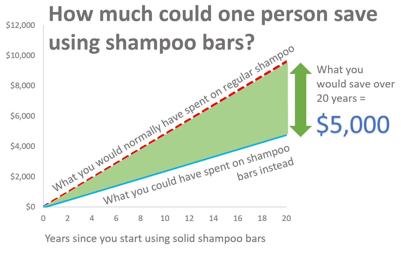 Shampoo bar savings